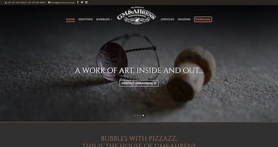 GM&Ahrens Bubbly Website